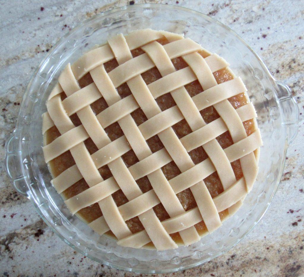 lattice crust treacle tart