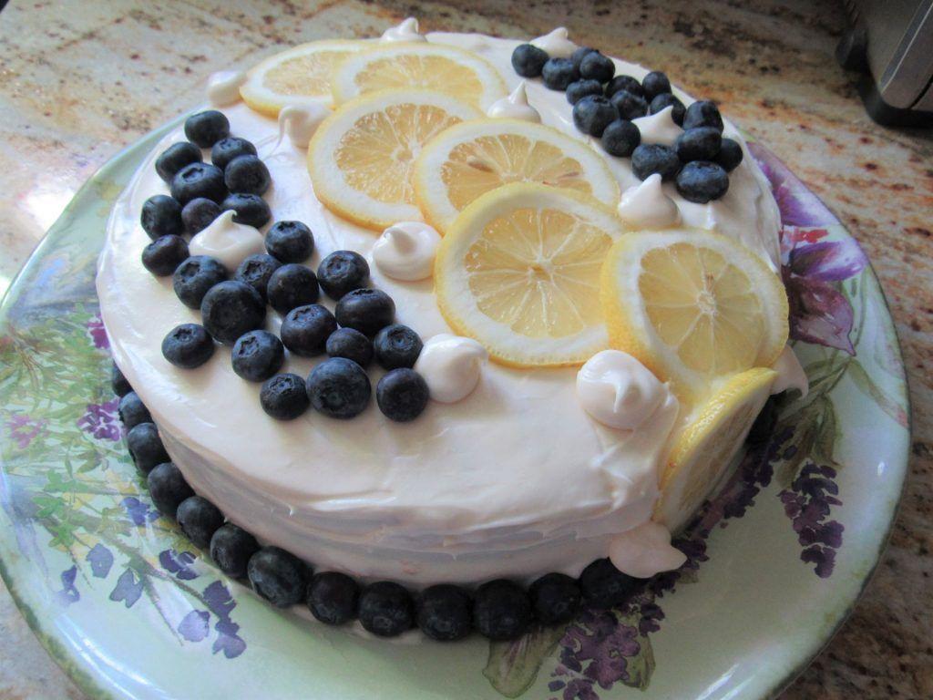 lemon blueberry torte