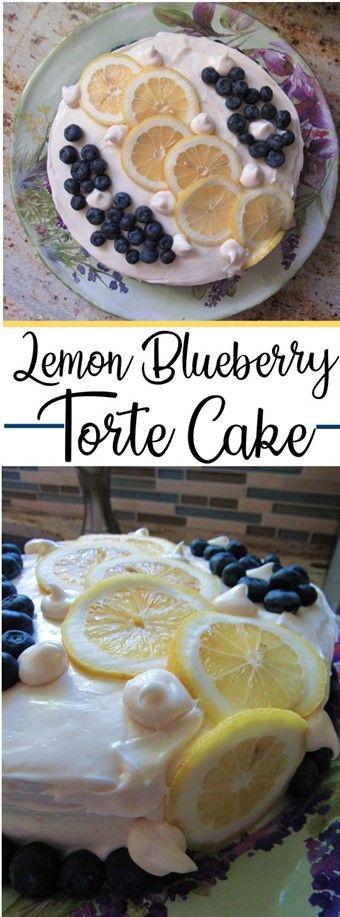 lemon blueberry torte pin