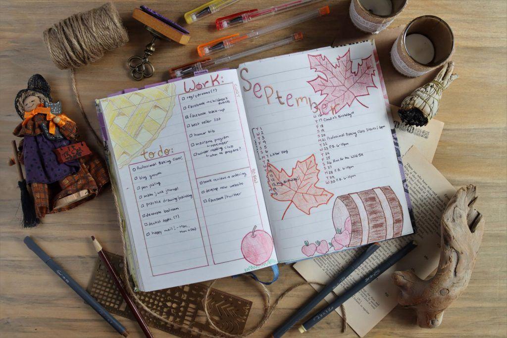 autumn bullet journal spread