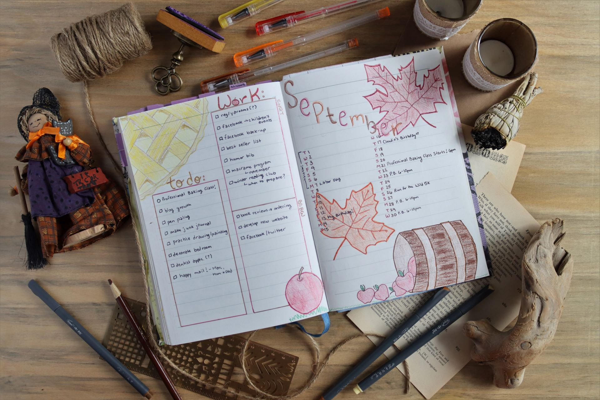 Read more about the article September Bullet Journal: Autumn Themed