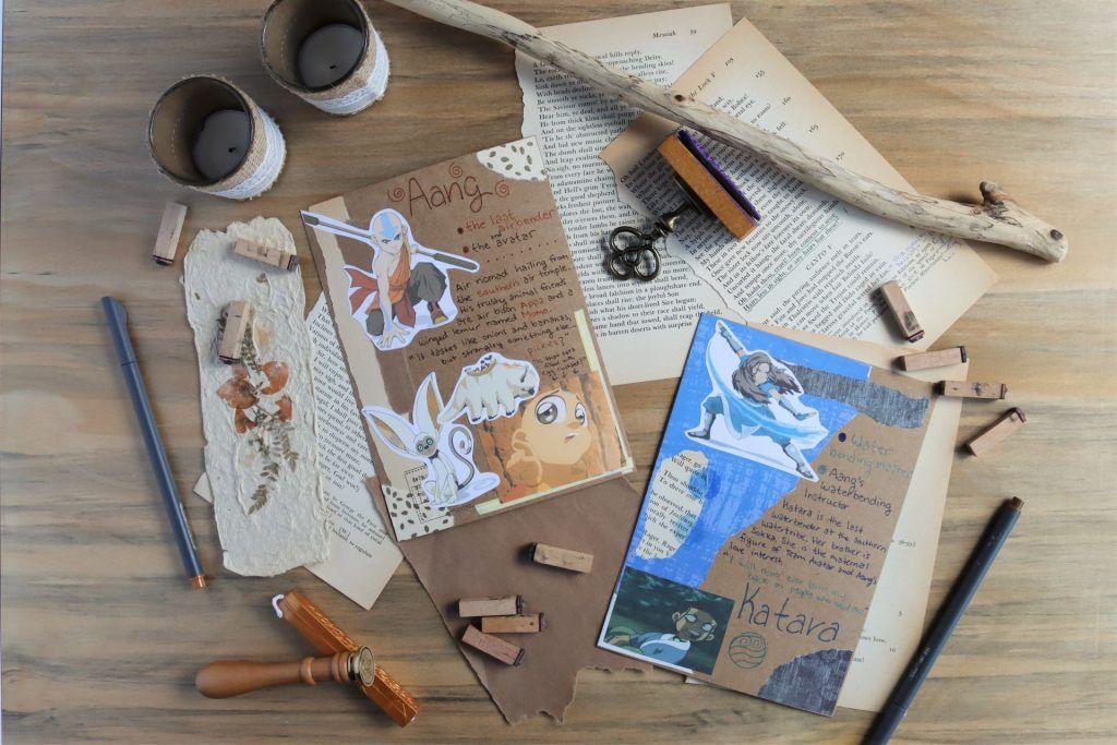 aang and katara mail art