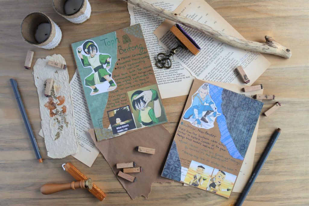 toph and sokka mail art