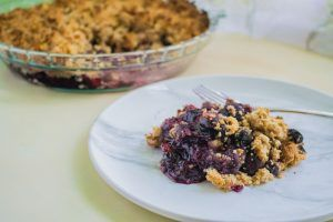 Read more about the article Blueberry Crumble (Gluten & Dairy Free)