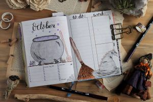 Read more about the article Witchy October Bullet Journal Theme