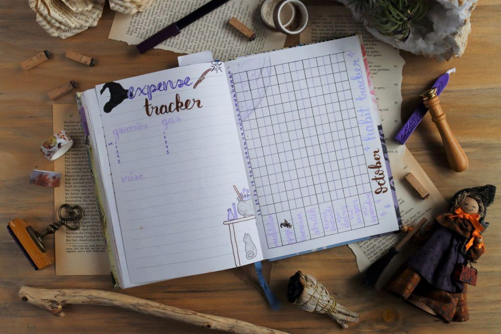 witchy expense and habit tracker