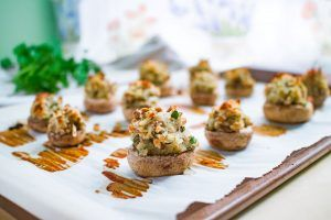 Read more about the article Vegan+Gluten Free Stuffed Mushrooms