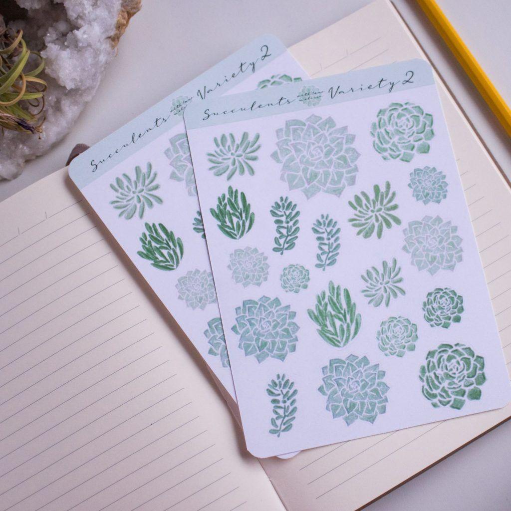 Succulents Variety 2 Sticker Sheet