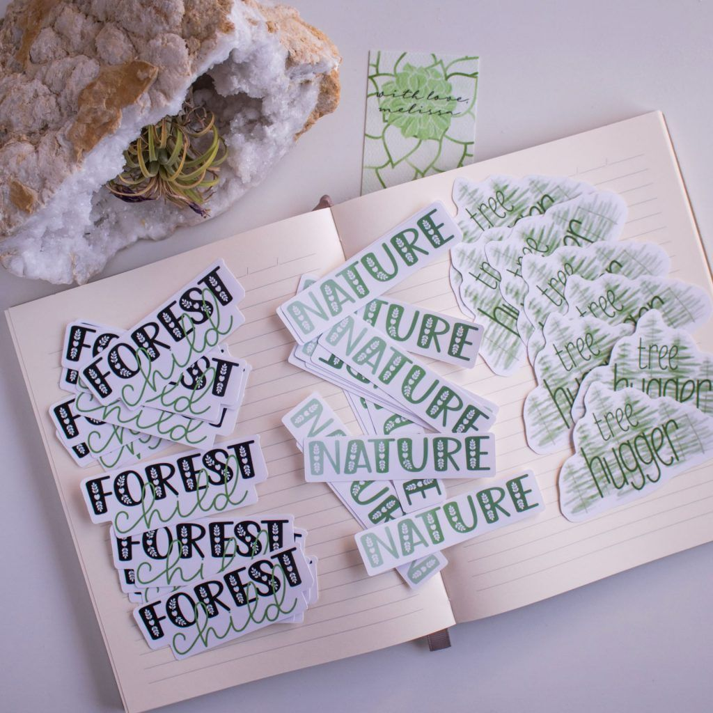 Forest Child Collection Die Cut Stickers