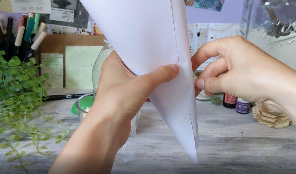 paper funnel aromatherapy stress balls